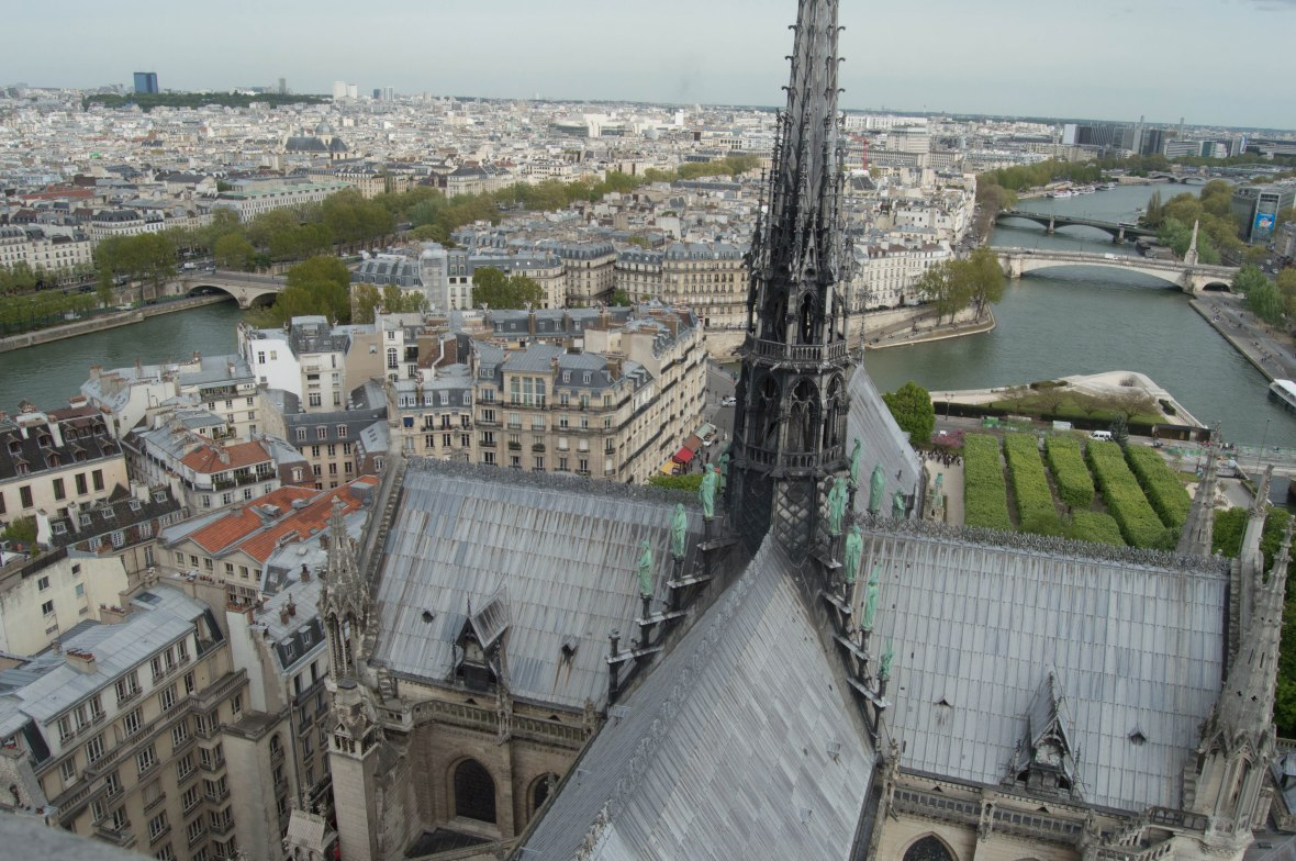 View of the River Seine From Notre Dame, Paris, France