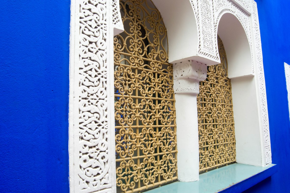 Windows, Majorelle Garden, Marrakech, Morocco
