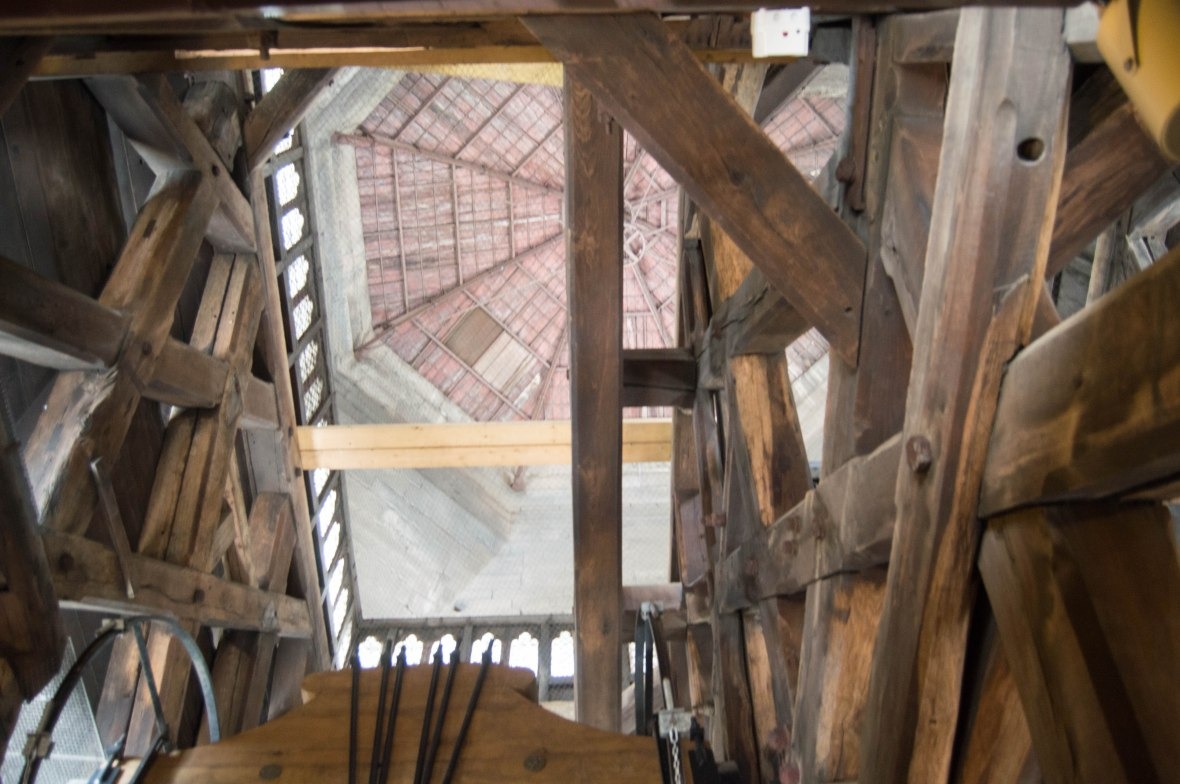 Wooden Roof, Bell Tower, Notre Dame, Paris, France