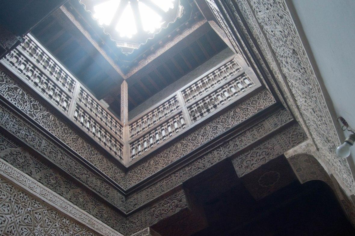 Woodwork Balconies, Ben Youssef Madrasa, Marrakech, Morocco