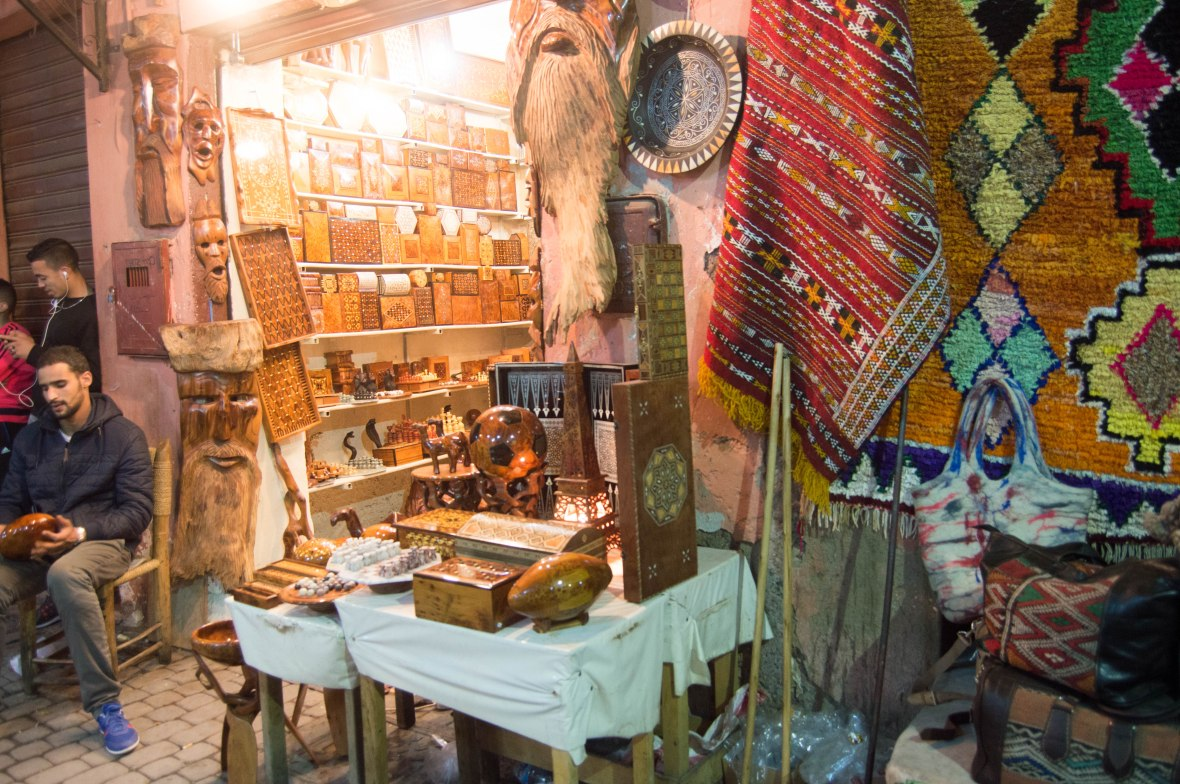 Woodwork Shop, Souks, Marrakech, Morocco