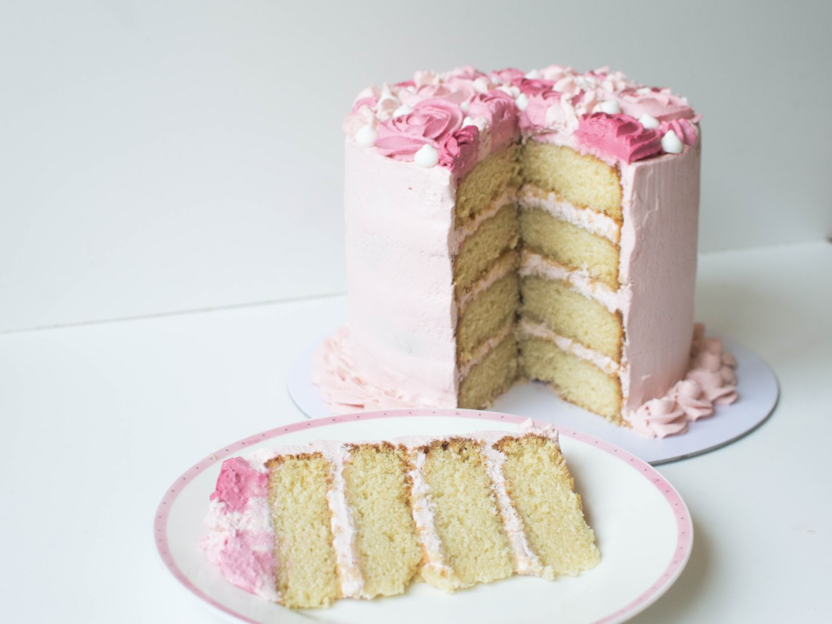 Vanilla And Raspberry Cream Cake - Kay's Kitchen