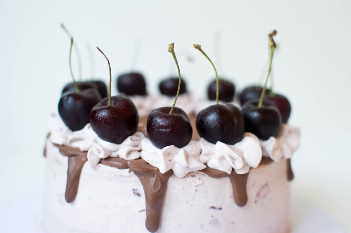 Dark Chocolate And Black Cherry Cake - Kay's Kitchen