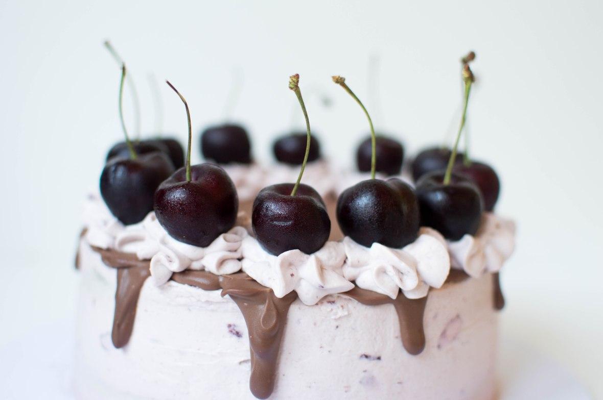 Dark Chocolate And Black Cherry Cake - Kay's Kitchen