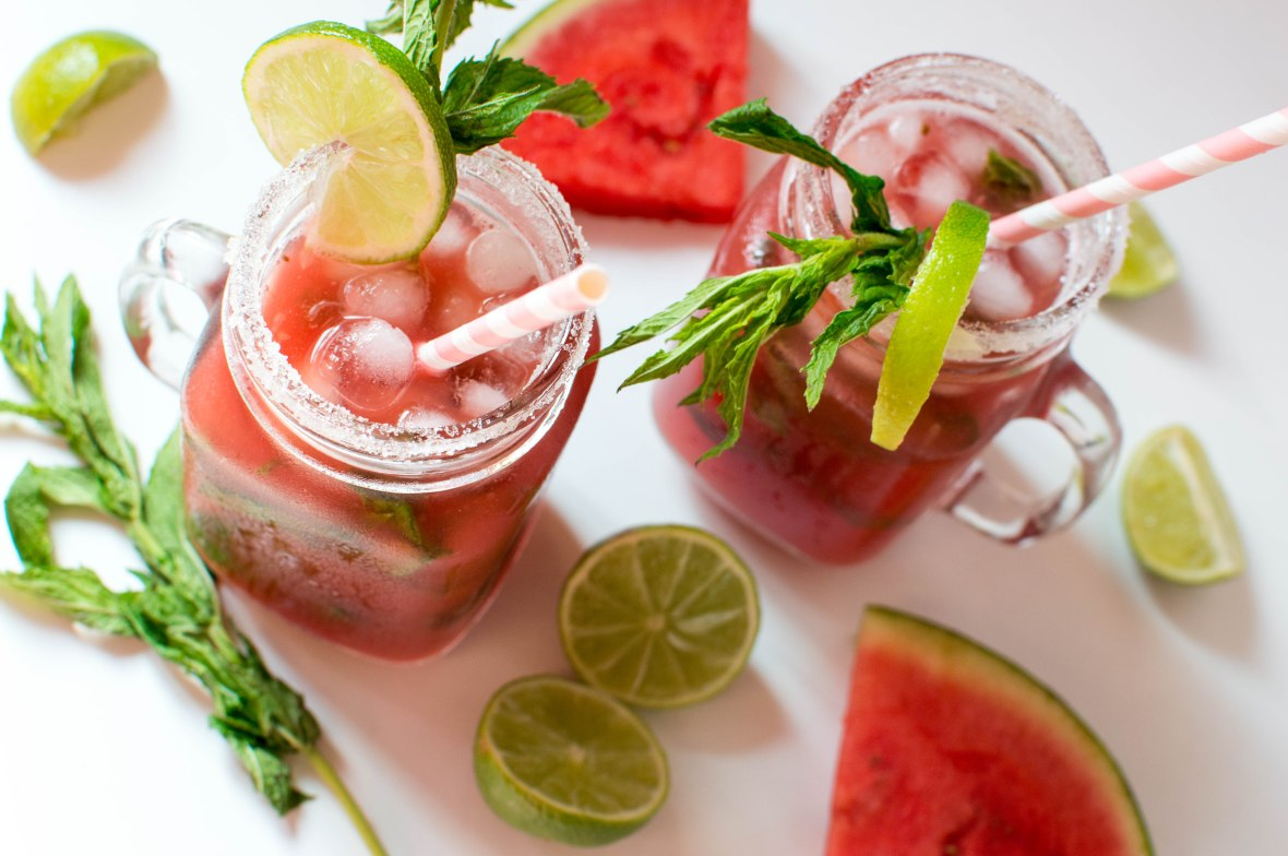 Watermelon, Mint And Ginger Mocktail