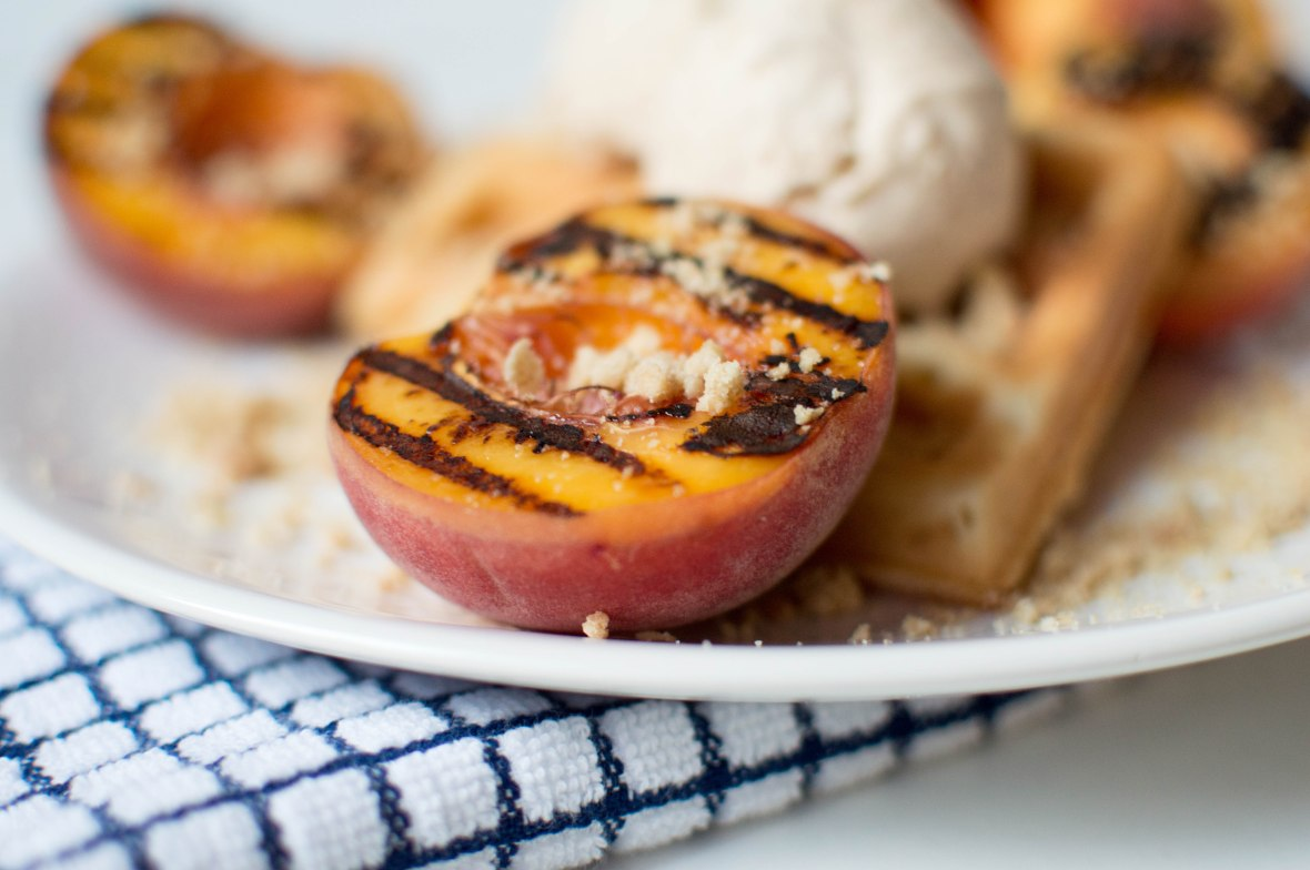 Maple Grilled Peaches - Kay's Kitchen