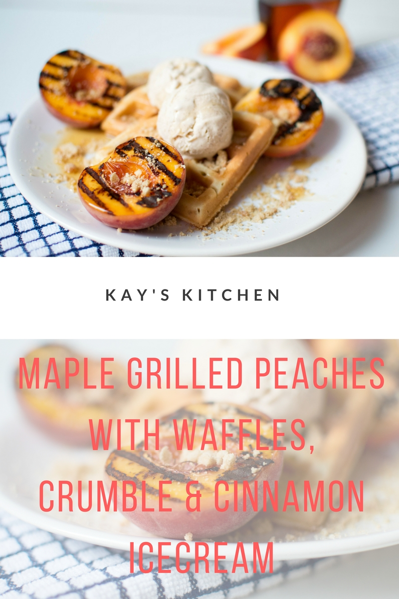 Maple Grilled Peaches With Waffles, Crumble & Cinnamon Icecream.jpg