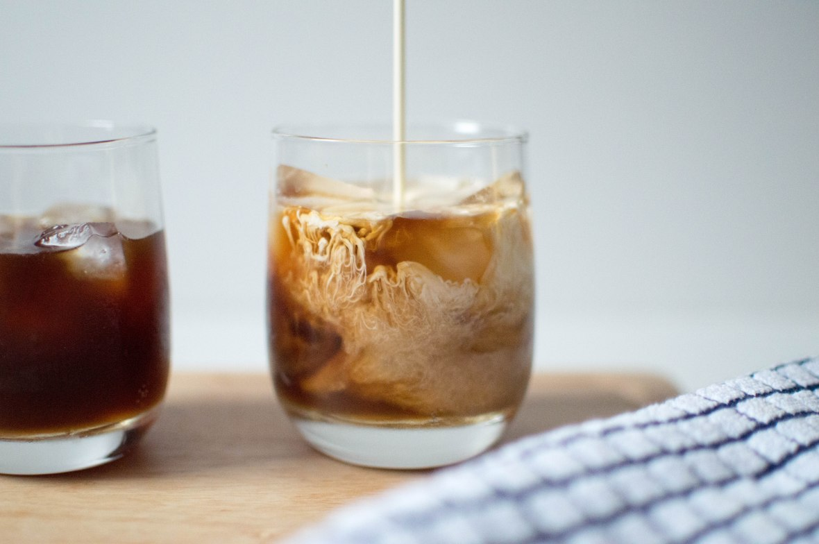 pouring-cream-into-cold-brewed-coffee-kays-kitchen