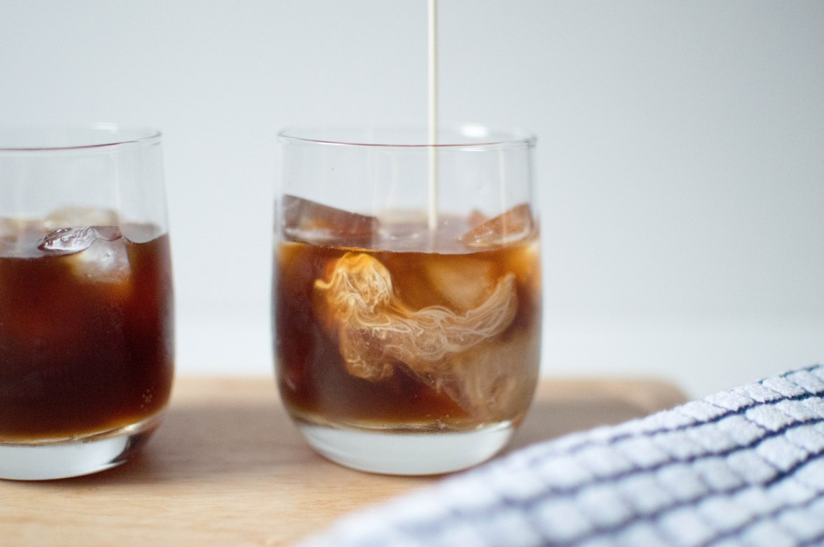 pouring-cream-into-iced-coffee-kays-kitchen