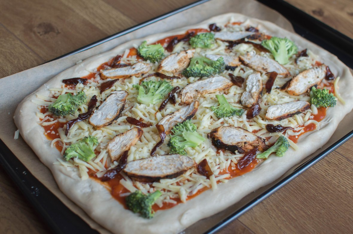 Homemade Chicken And Broccoli Pizza - Kay's Kitchen