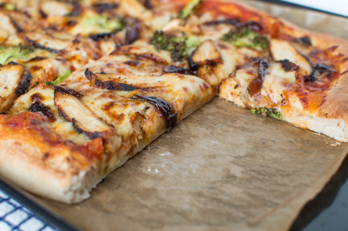 Homemade Chicken & Broccoli Pizza With Red Onion Chutney - Kay's Kitchen