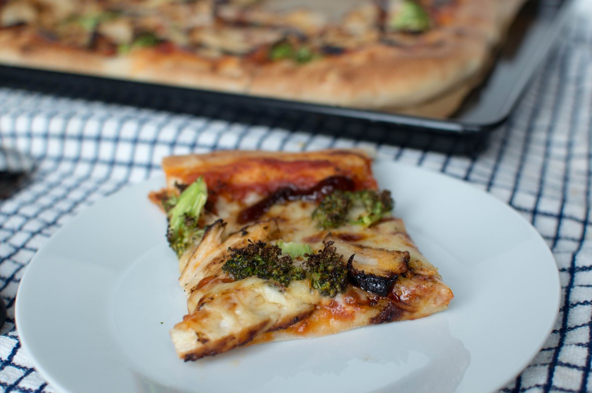 Slice of Chicken And Broccoli Pizza - Kay's Kitchen
