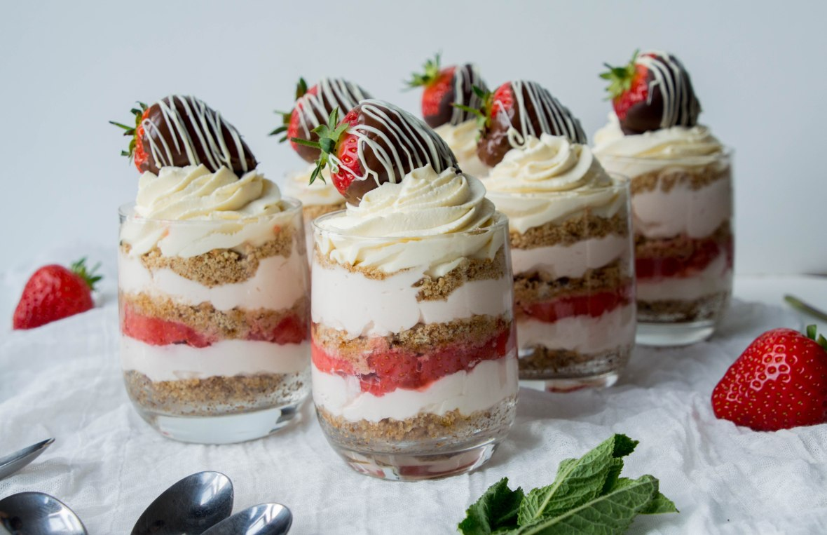 Individual Strawberry Cheesecakes - Kay's Kitchen