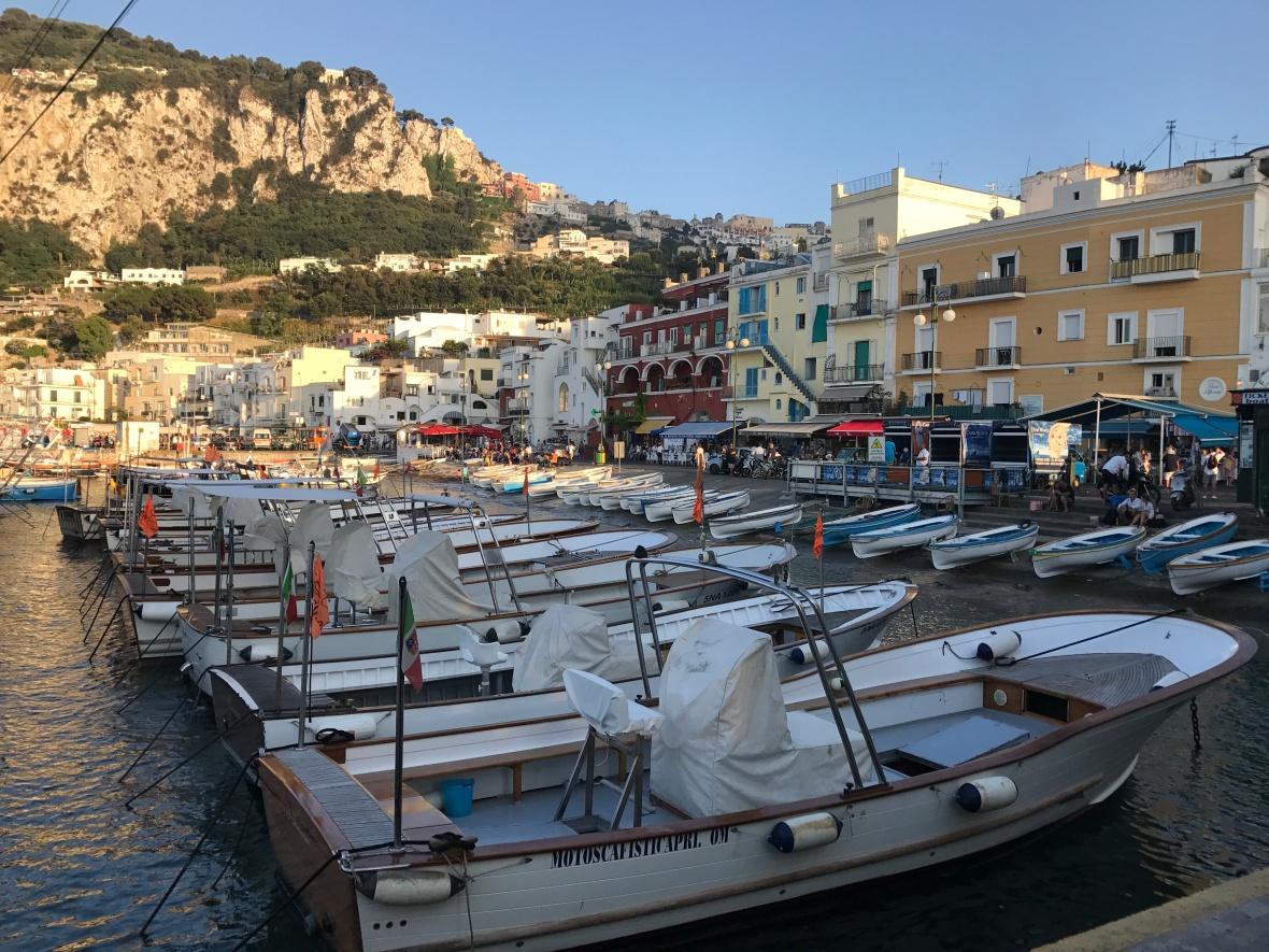 Boats, Marina Grande, Capri, Italy