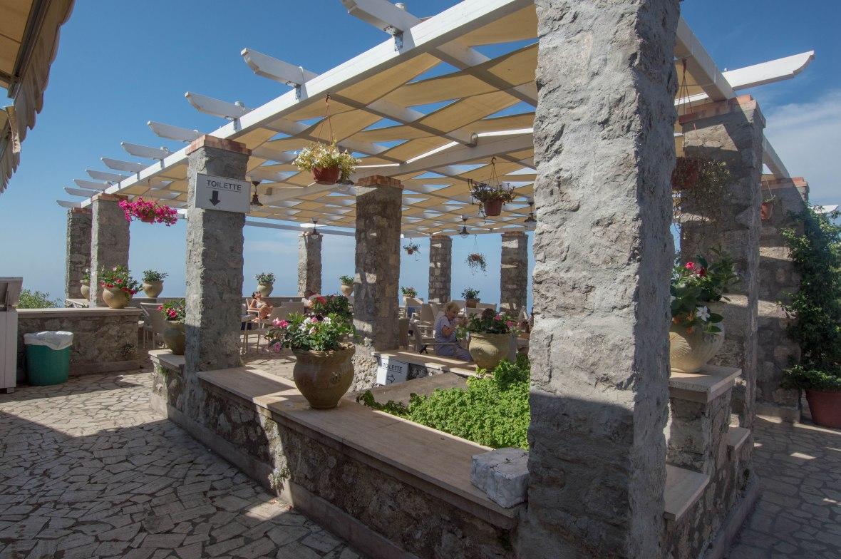 Cafe, Mt Solaro, Capri, Italy