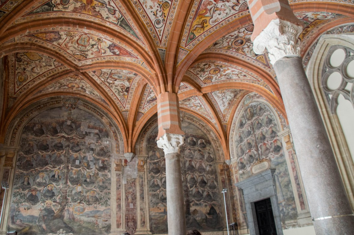 Ceiling, Chapter Hall, San Lorenzo Maggiore, Naples, Italy