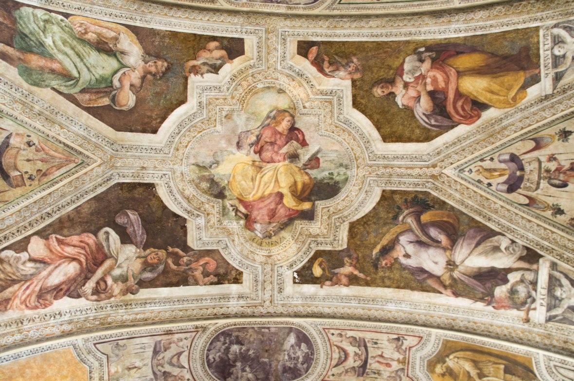 Ceiling, Sisto V Hall, San Lorenzo Maggiore, Naples, Italy