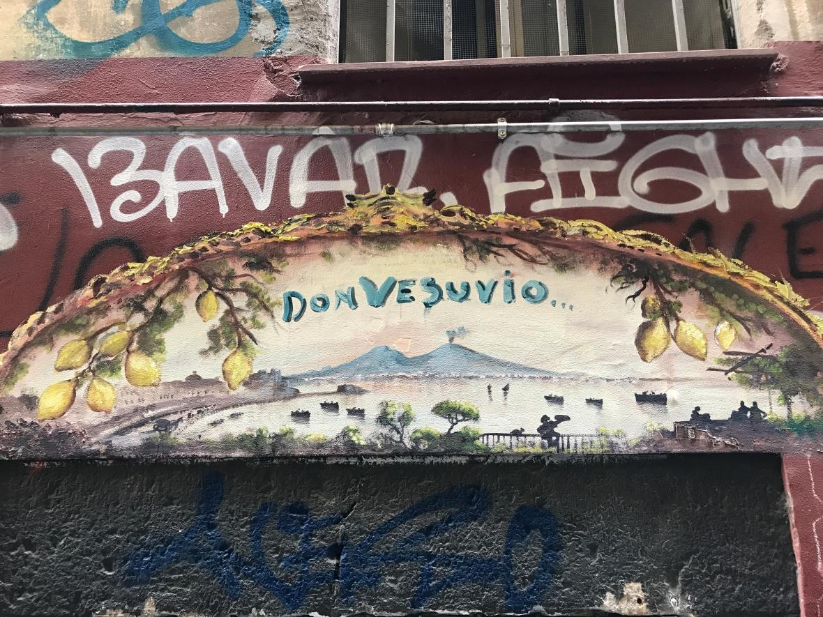 Don Vesuvio Painting, Naples, Italy
