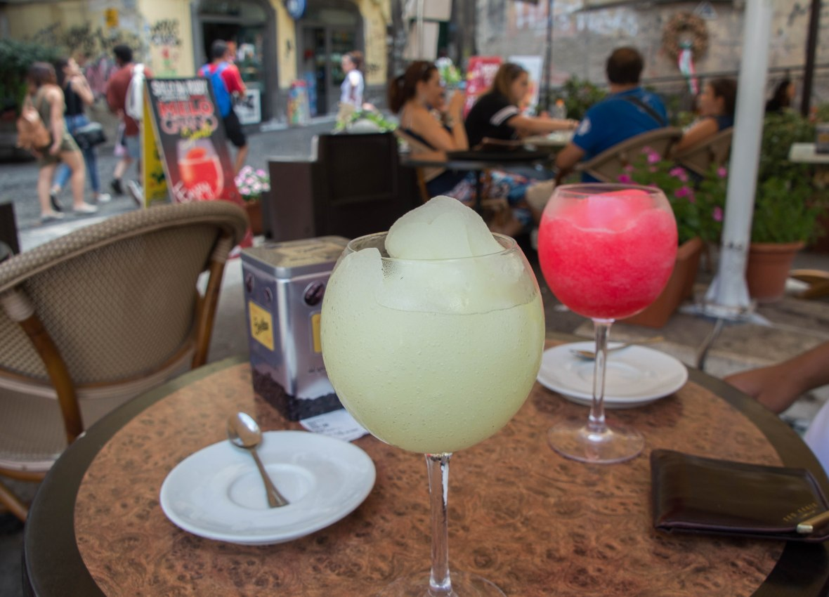 Lemon Granita, Naples, Italy