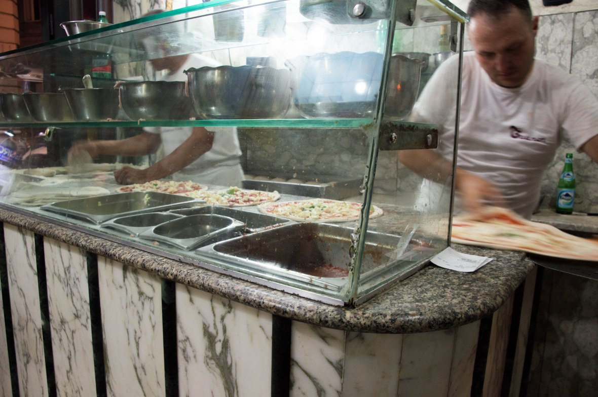 Pizza Being Made, Pizzeria Trianon, Naples, Italy