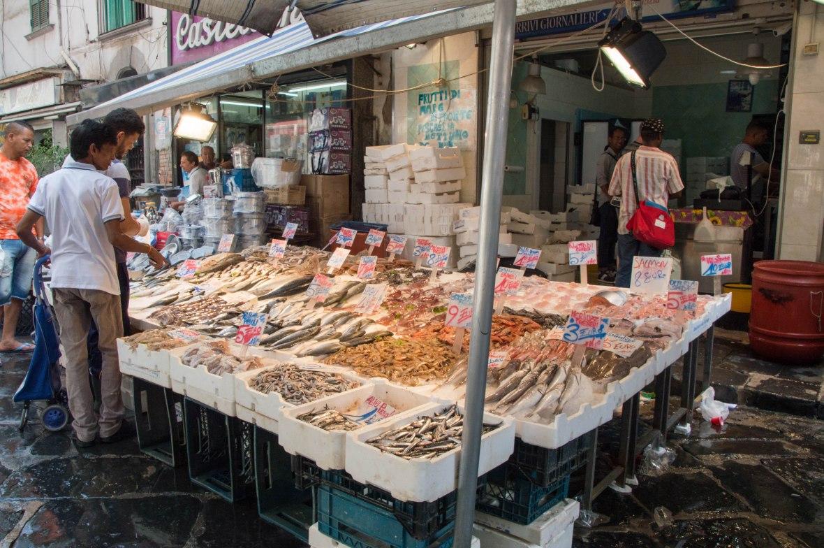 Seafood, Porta Nolana Market, Naples, Italy