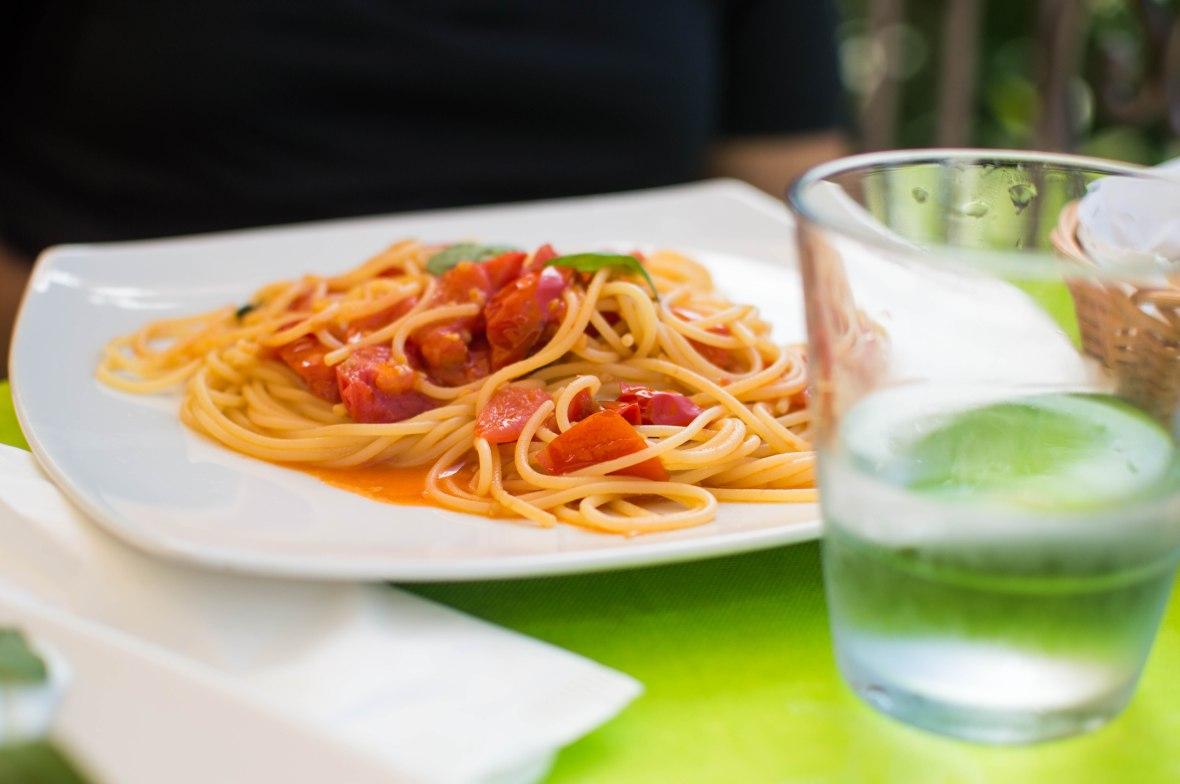 Spaghetti, Ristorante La Fenicia, Capri, Italy