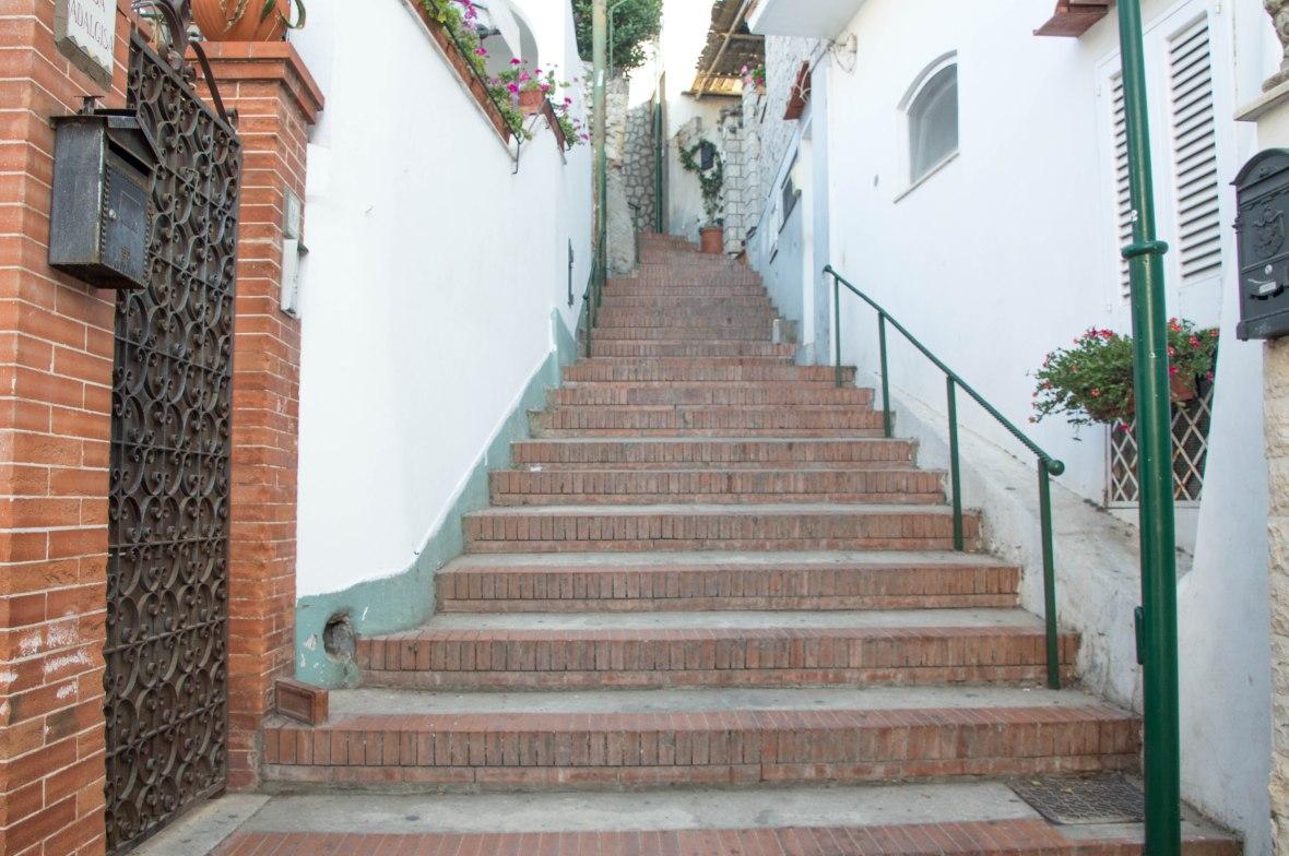 Stairs, Capri, Italy