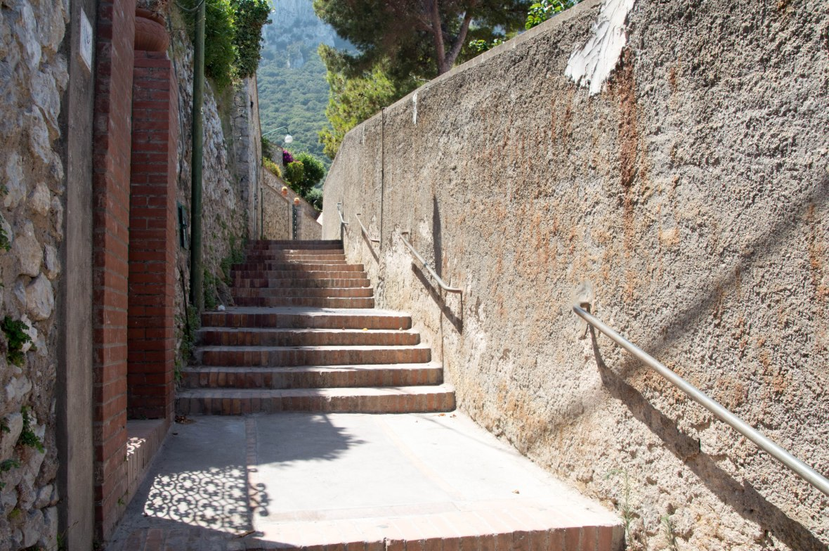 Stairs To Chairlift, Capri, Italy