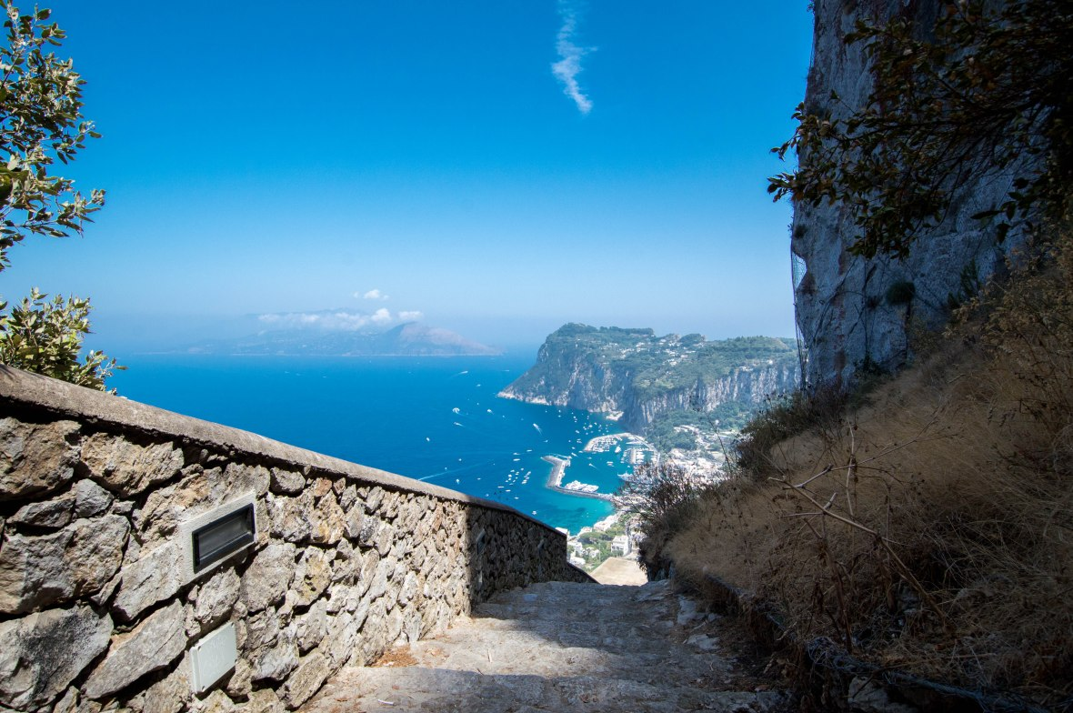 Stairs Towards Chairlift, Capri, Italy
