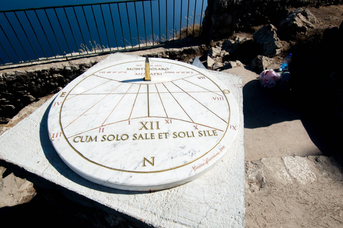 Sundial, Capri, Italy