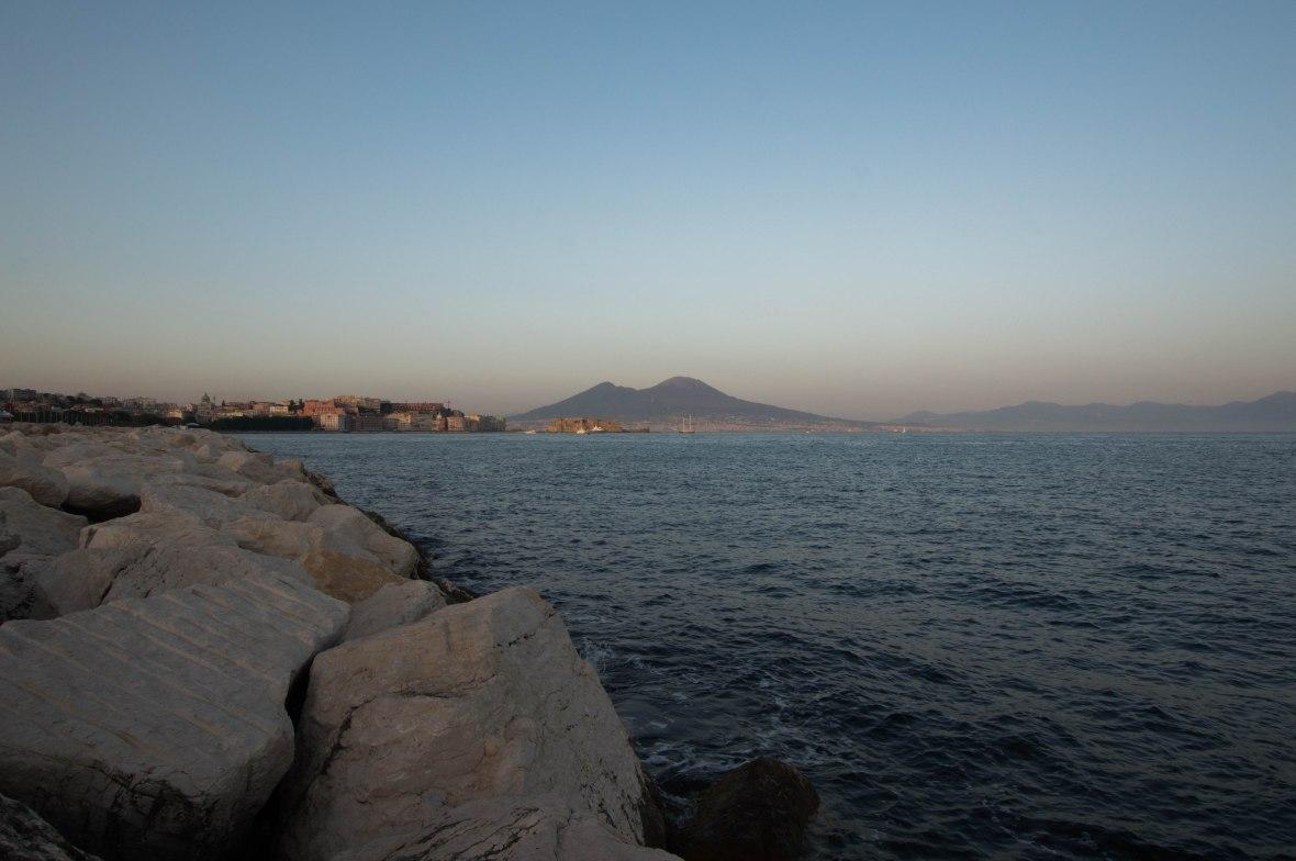 Sunset, Mt Vesuvius, Lungomare Mergellina, Naples, Italy
