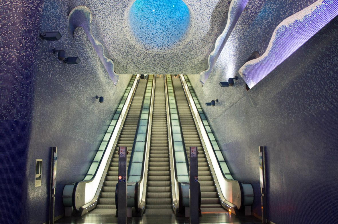 Toledo Station, Escalators, Naples, Italy