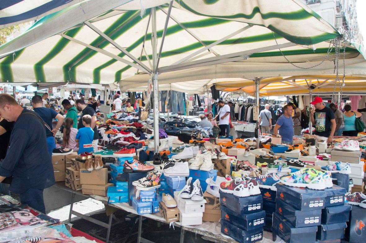 Trainers, Porta Nolana Market, Naples, Italy