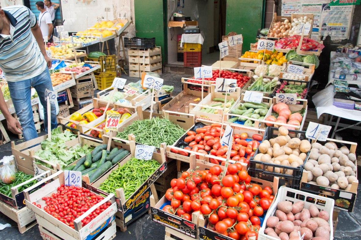 Vegetables, Porta Nolana Market, Naples, Italy