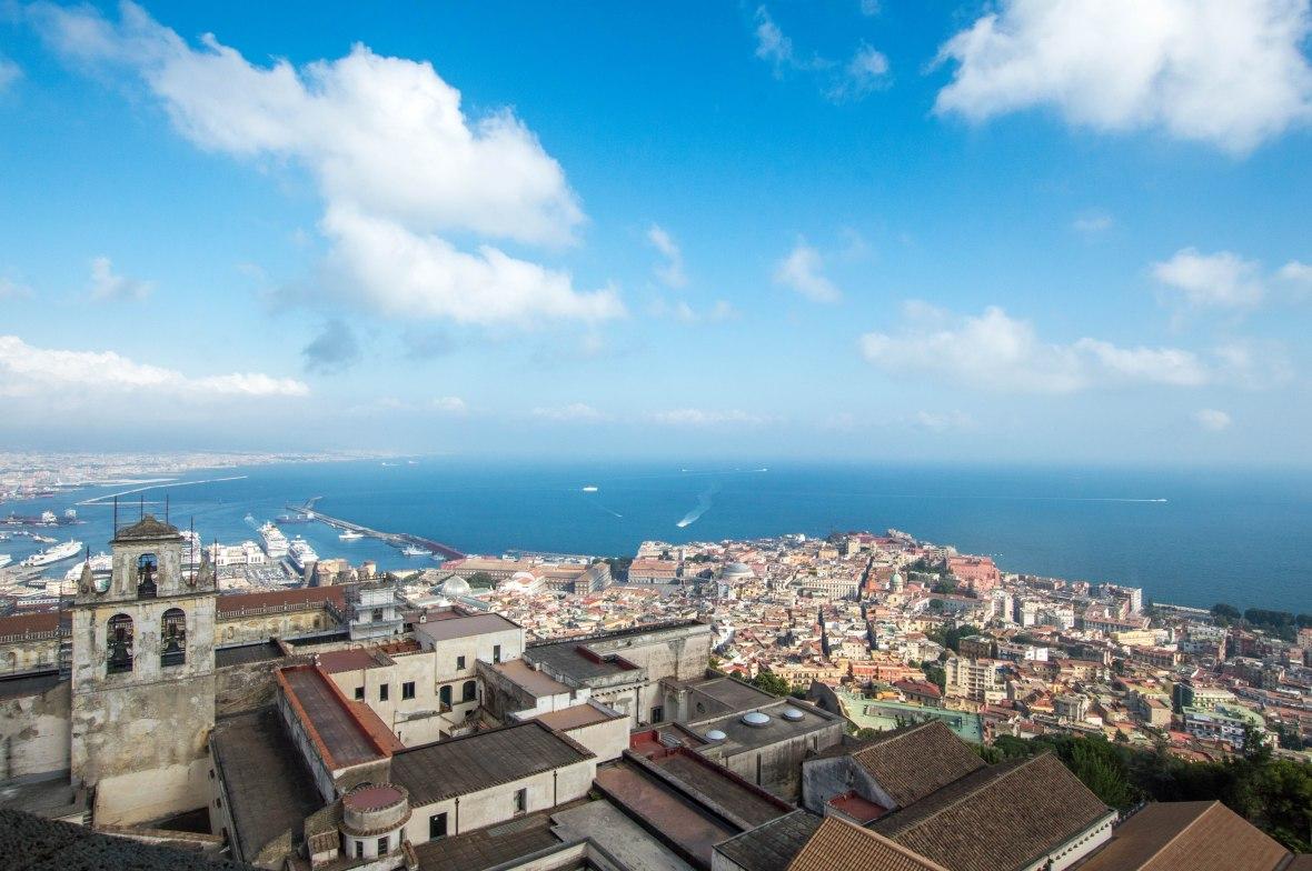 View, Castel Sant'Elmo, Naples, Italy
