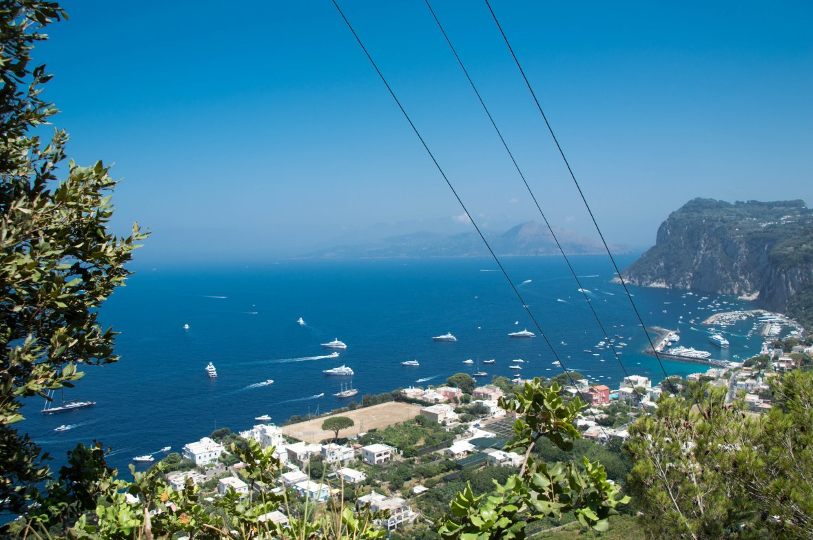 View Over Marina Grande, Capri, Italy