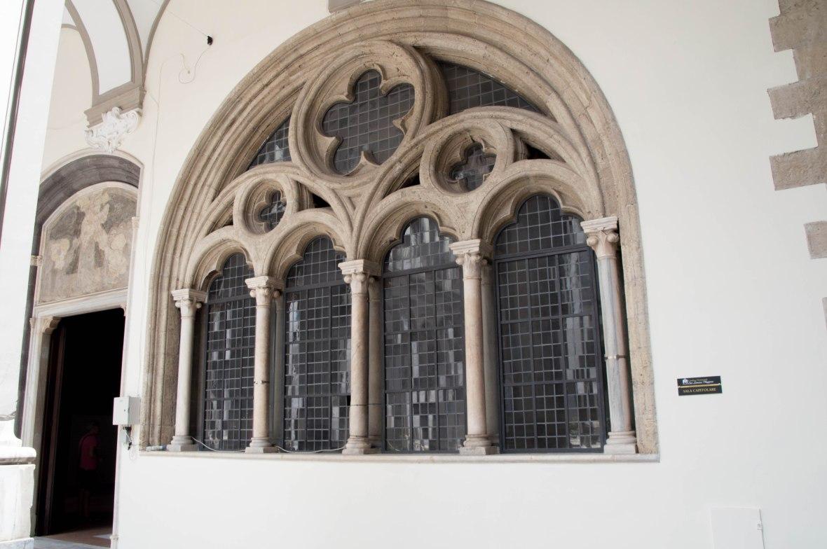 Windows, Chapter Hall, San Lorenzo Maggiore, Naples, Italy
