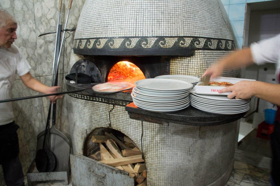 Woodfire Oven, Pizzeria Trianon, Naples, Italy