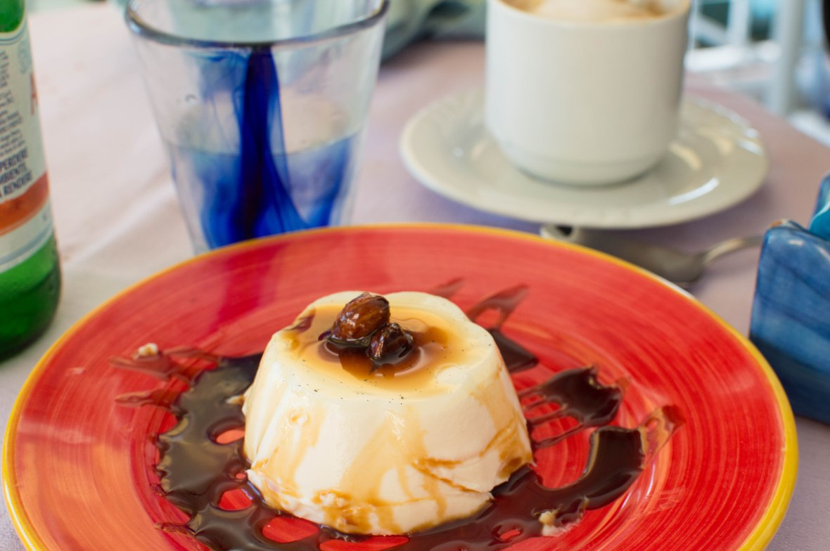Almond And Burnt Caramel Panna Cotta, La Cambusa, Positano, Amalfi