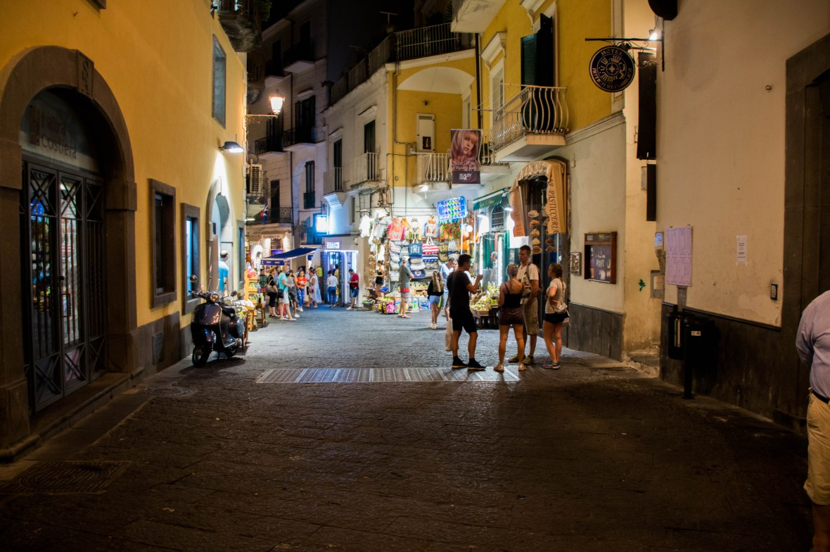Amalfi Town By Night, Italy