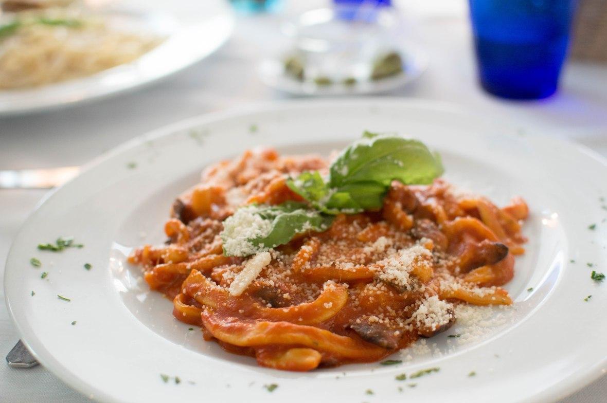 Aubergine Pasta, Stella Maris Restaurant, Amafi, Italy