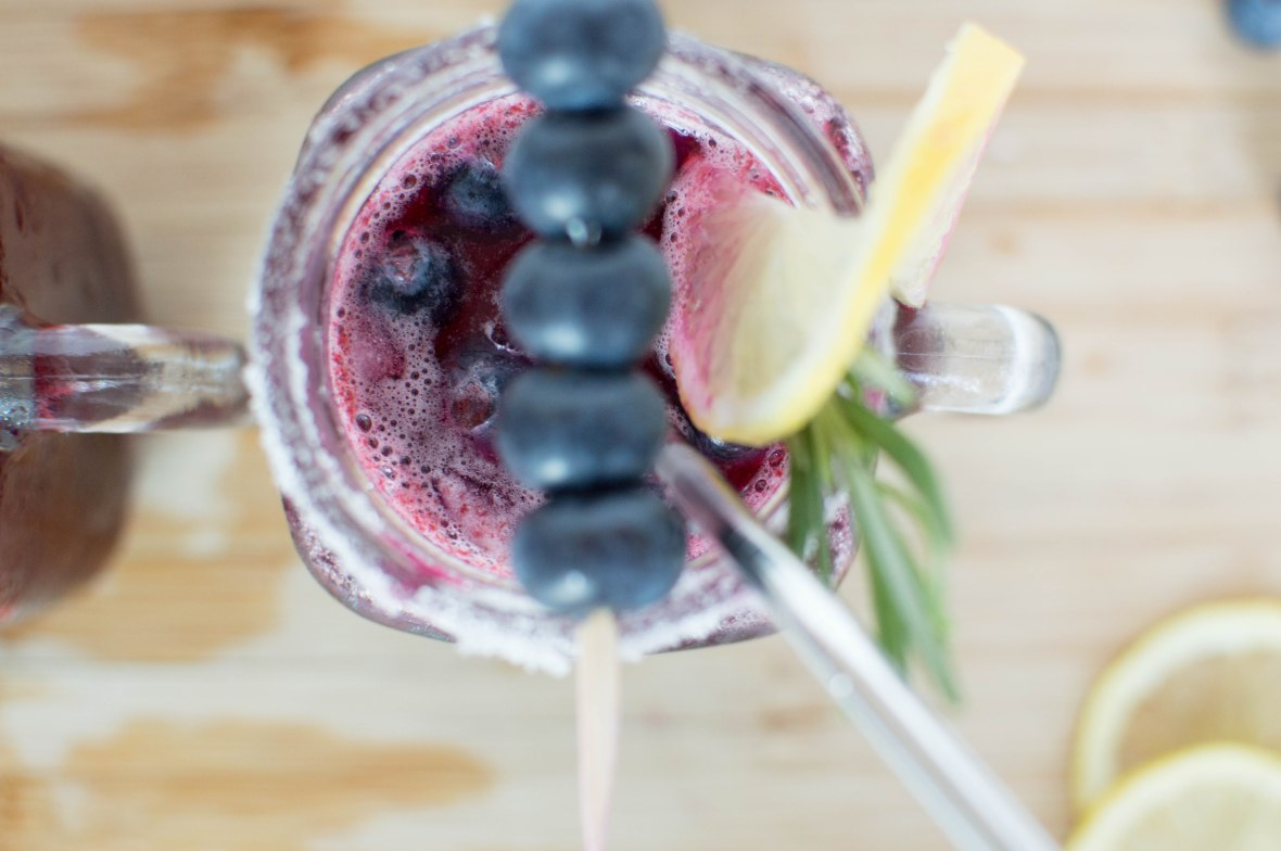 Blueberry And Rosemary Smash Mocktail - Kay's Kitchen