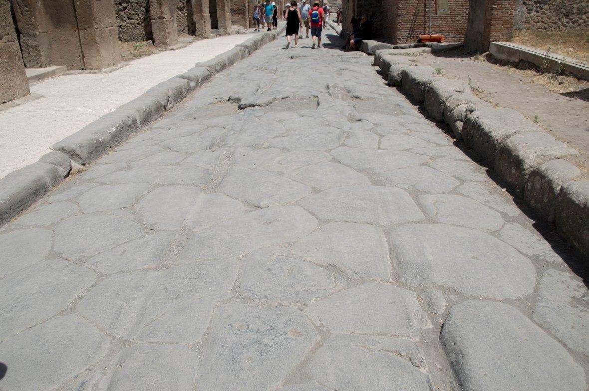 Chariot Wheel Tracks, Pompeii, Italy
