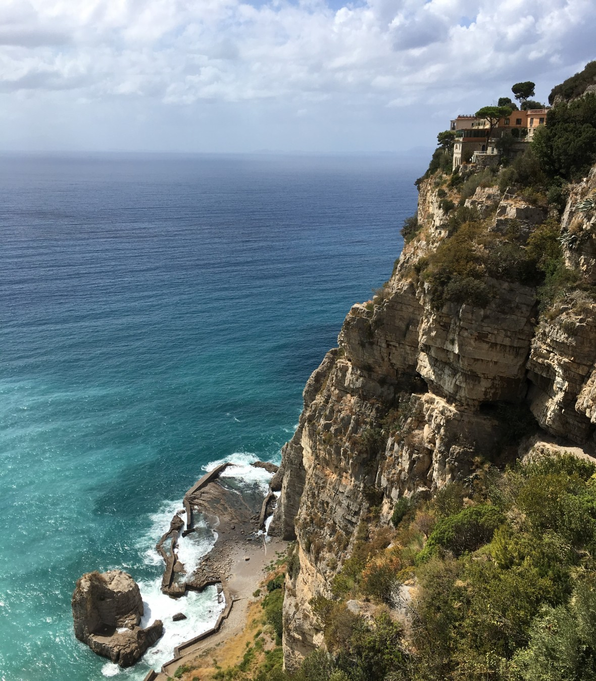 Coastal Drive From Naples To Amalfi, Italy