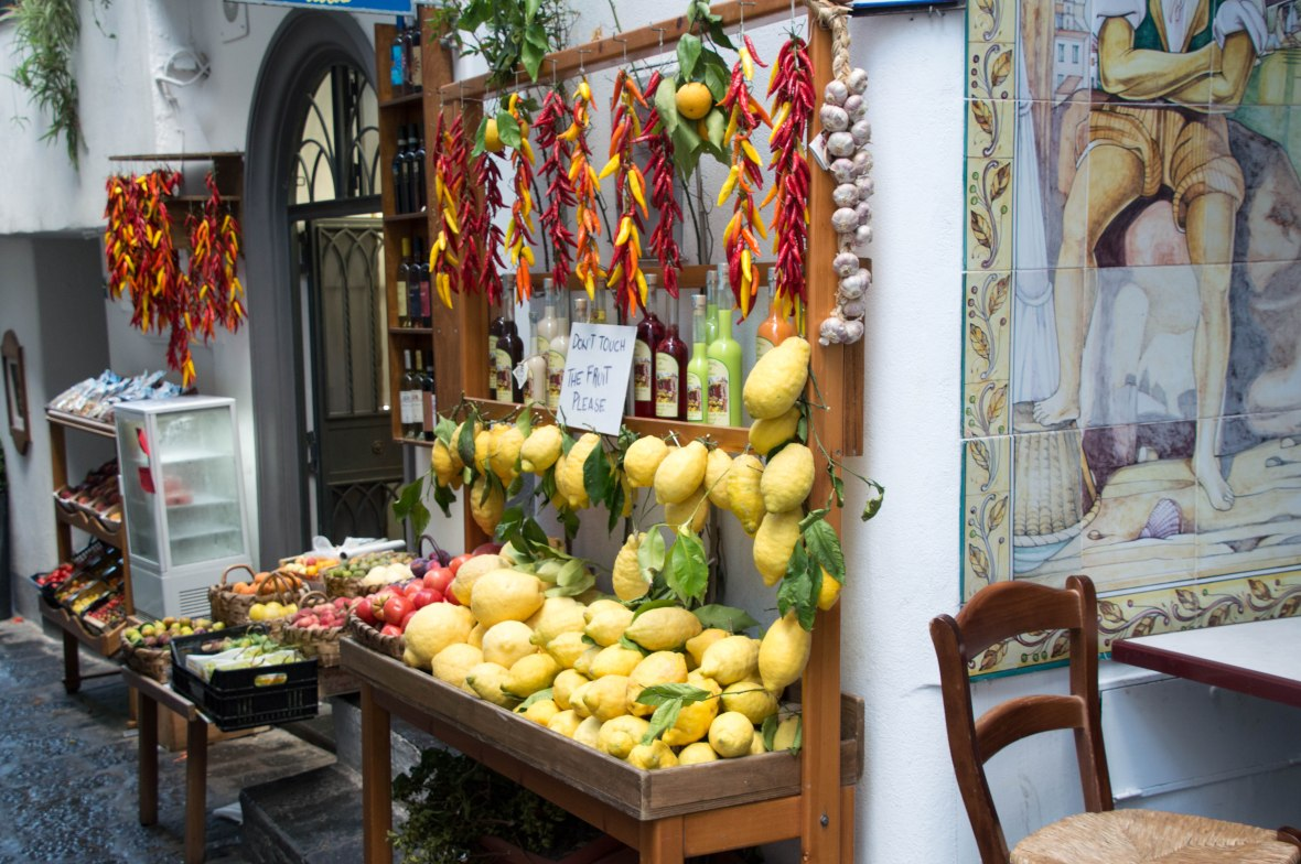 Lemon And Chilli Stall, Amalfi, Italy