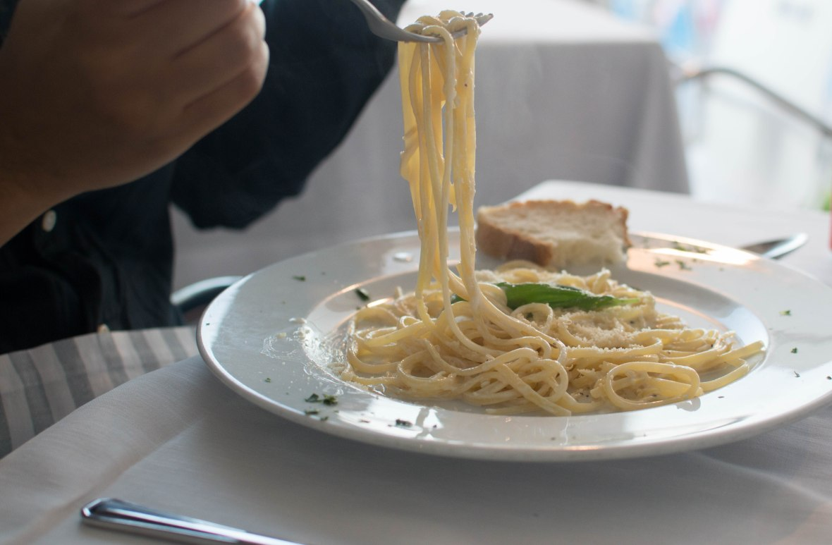 Lemon Pasta, Stella Maris Restaurant, Amafi, Italy
