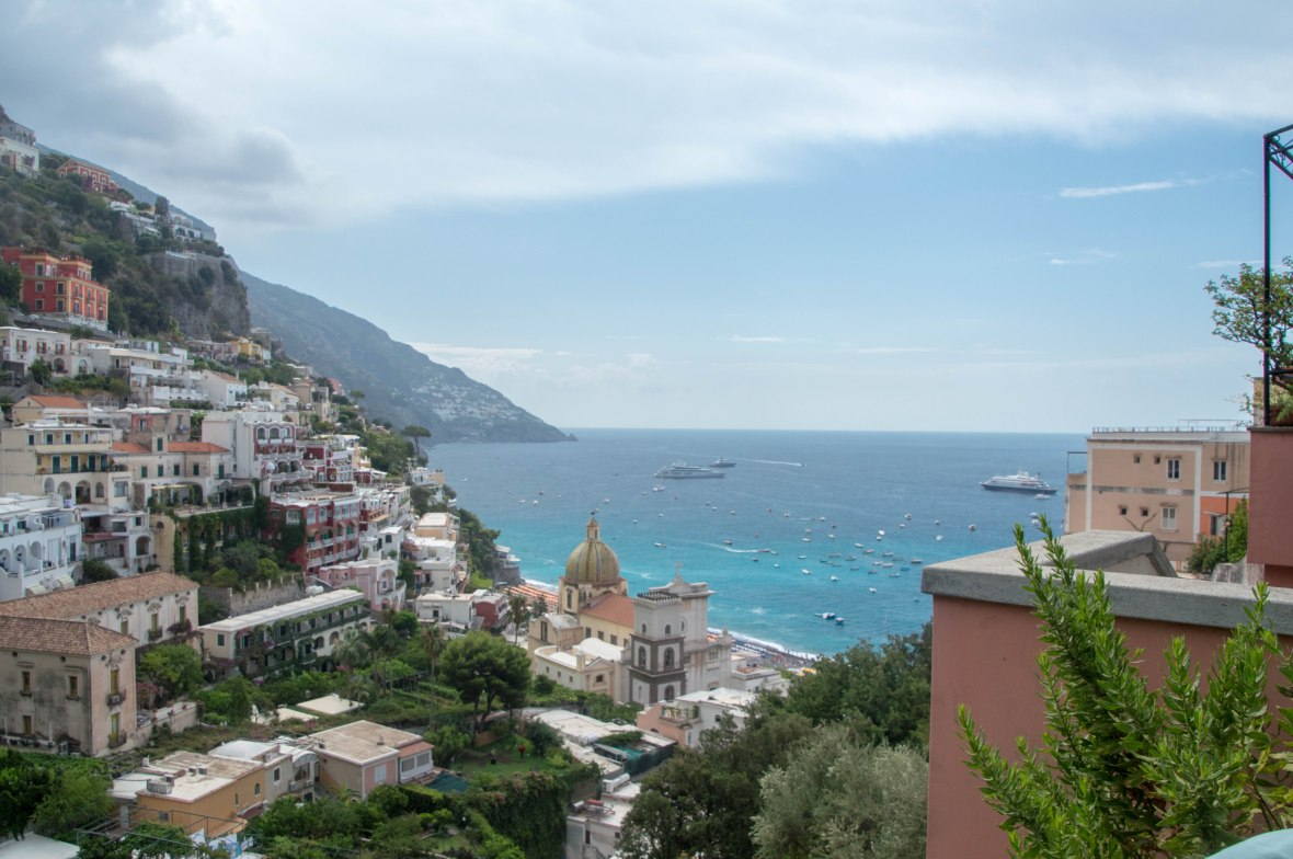 Looking Down On Positano, Italy