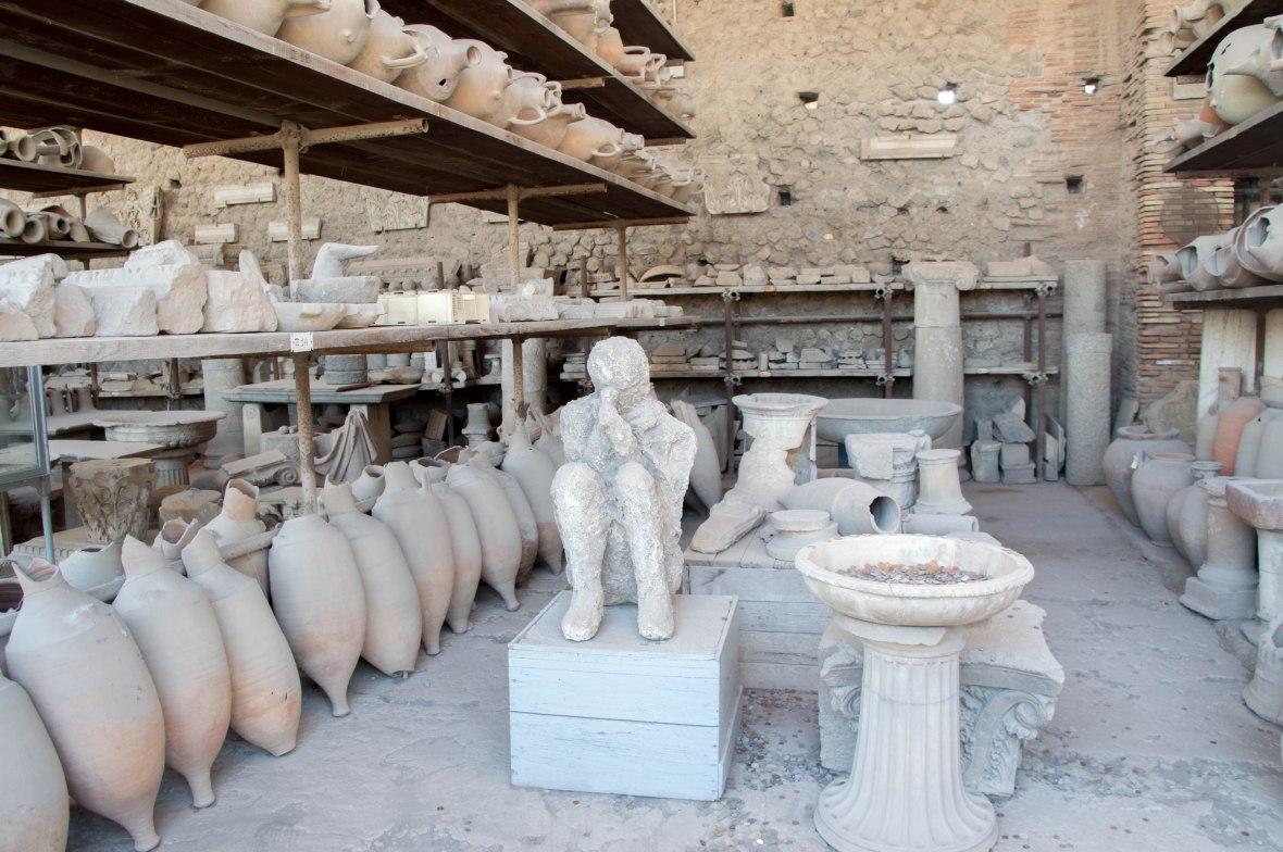 Man, Pompeii, Italy