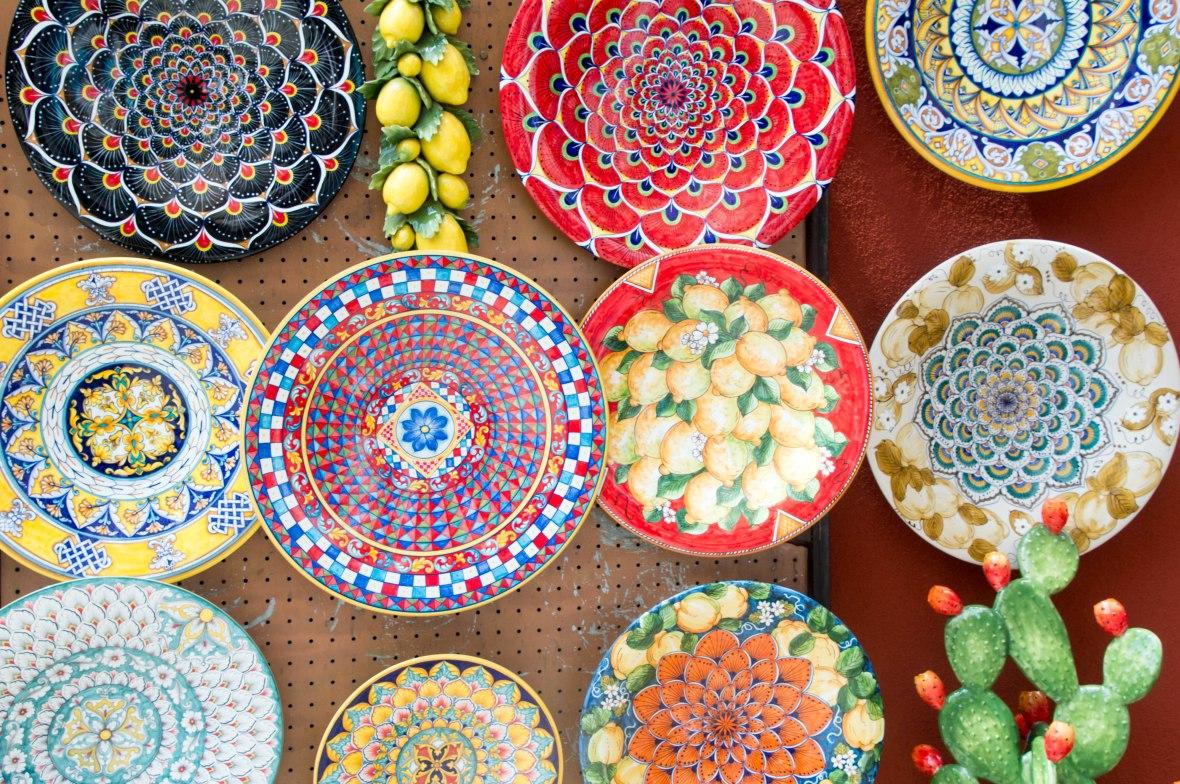 Painted Plates, Ceramica Assunta, Positano, Italy