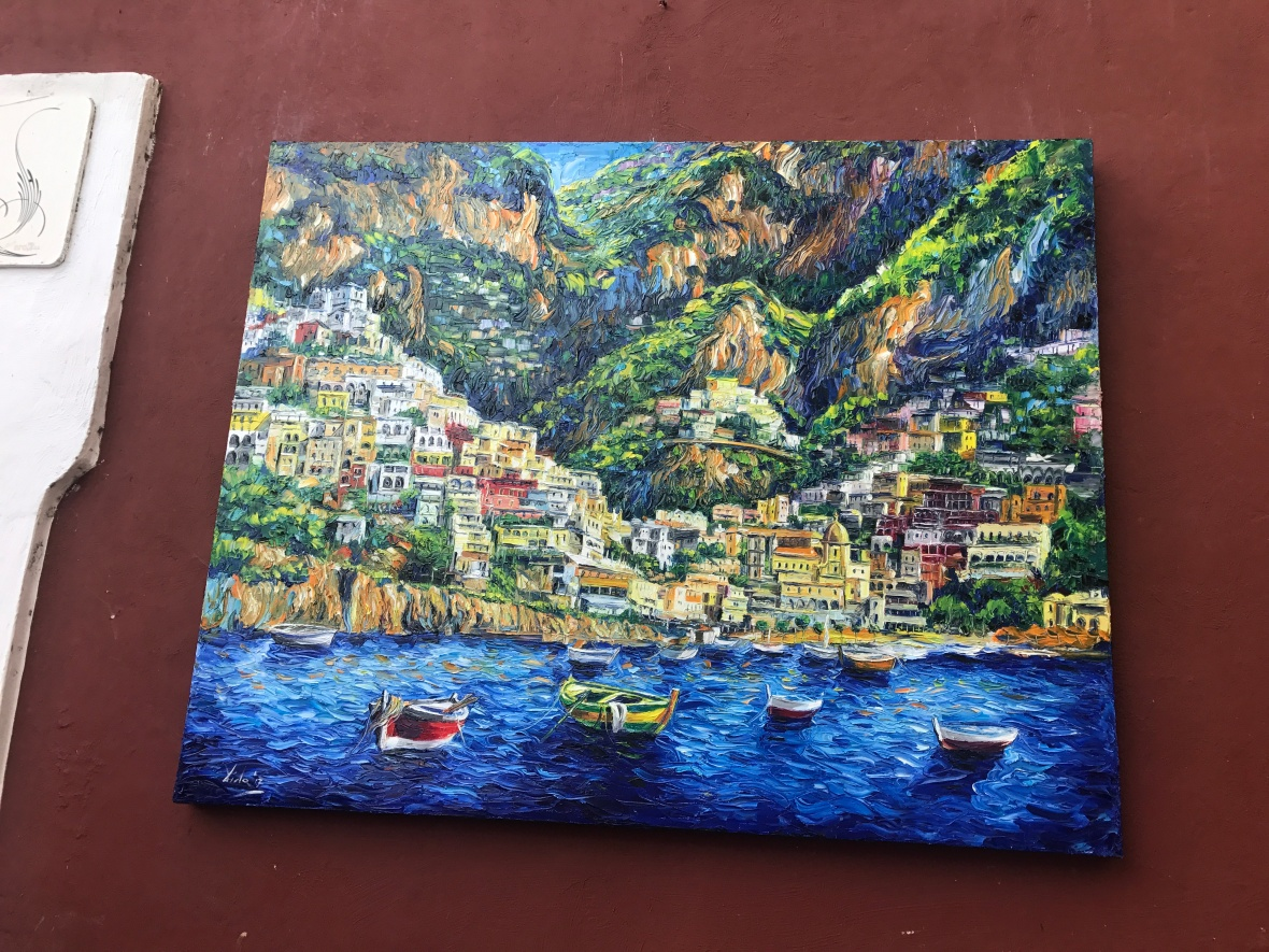Painting Of Positano, Italy